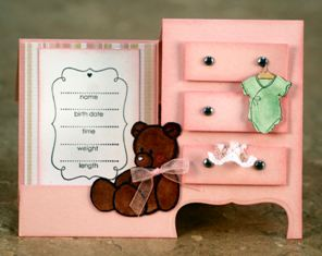 Make baby girl cards!