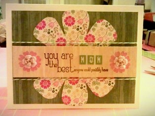 A beautiful Mothers Day card to make!