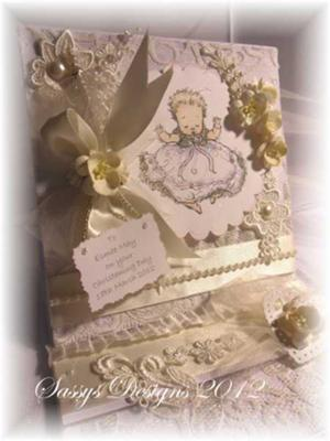 Baby Christening card