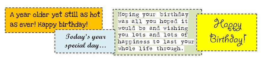 Birthday Card Verses