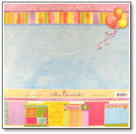 patterned papers for birthday cards