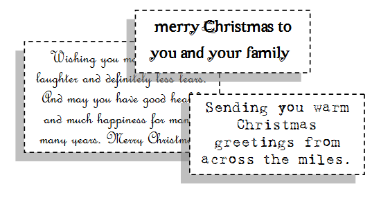 christmas card sayings - Christmas Card Wording