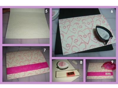 steps for easy to make I love you card