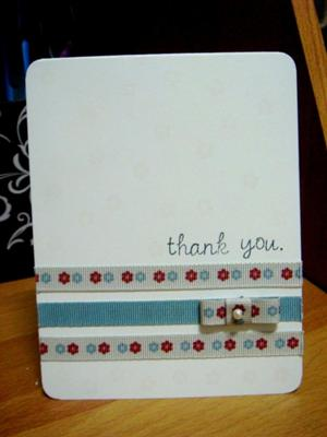 Easy-to-Make Thank You Card