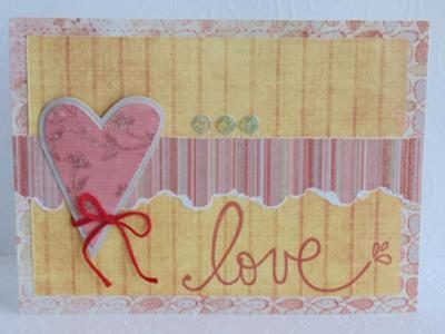 Glittered Love Card