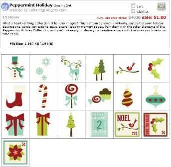 Holiday Peppermint Graphic Set