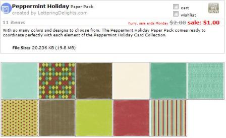 Holiday Peppermint Papers