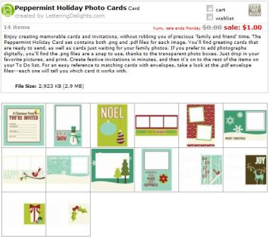Holiday Peppermint Photo Cards