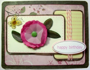 handmade birthday card girl version