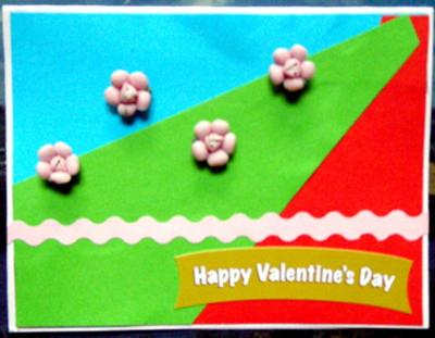 Happy Valentine's Day Handmade Card
