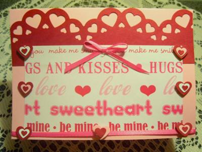 Hugs and Kisses<br>Homemade Valentine Card