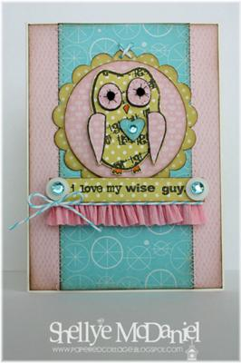 I Love My Wise Guy<br>Handmade Card by Shellye