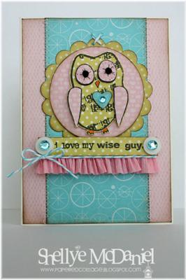 I Love My Wise Guy<br>Handmade Card by Shellye