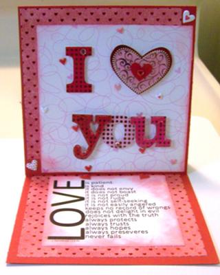 I love you<br>Handmade Valentine Card