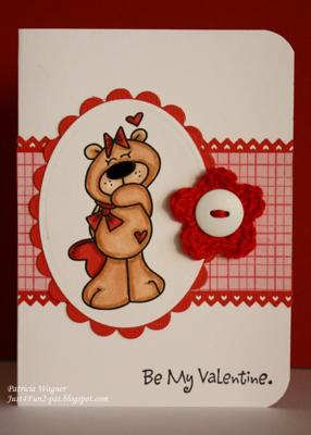 Love Bear<br>Handmade Valentine Card