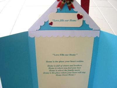 Love Fills Our Home<br>Valentine Card Idea