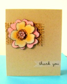 make paper flowers thank you card