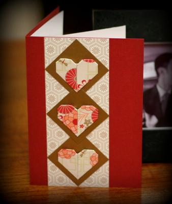 Make Your Own Valentine Card with Origami Hearts