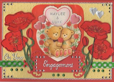 On Your Engagement<br>A Homemade Valentines Card