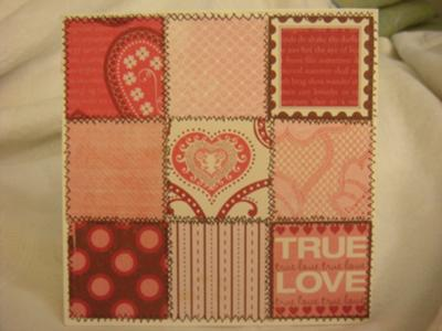 patchwork of love card