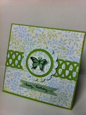 Simple Birthday Card With Punched Out Butterfly Design