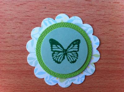 Variation using butterfly stamp