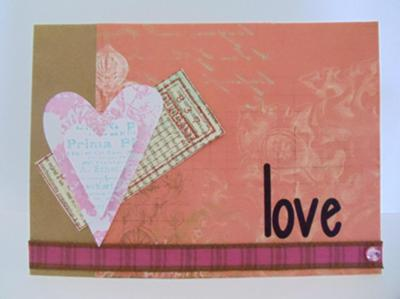 Simple Pink Love Card