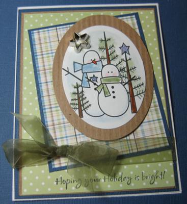 Snow Friends Are Best<br>Handmade Christmas Card