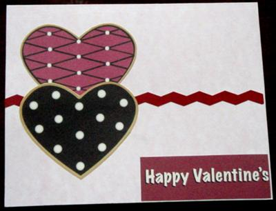 Twin Hearts<br>Handmade Valentine Card