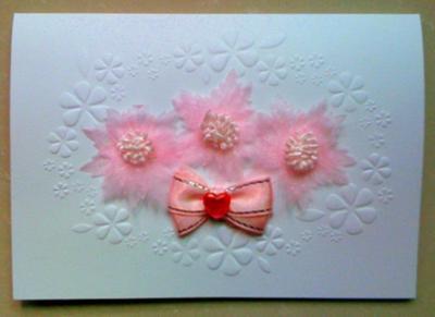 Valentine White Card