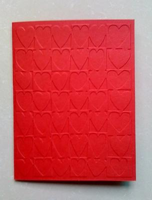 Unfinished Embossed Red Cardstock