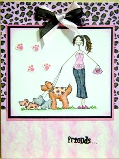A handmade card perfect to give to friends