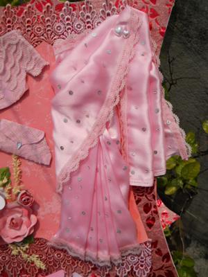 pink sari :)
