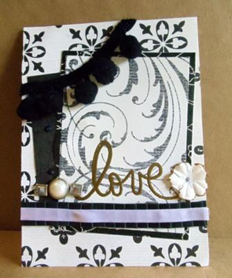 Elegant Black & White<br>Homemade Love Card