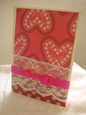 Lace-y V-day Card