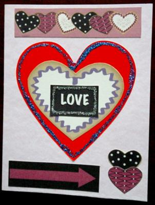 Love n Heart Handmade Card