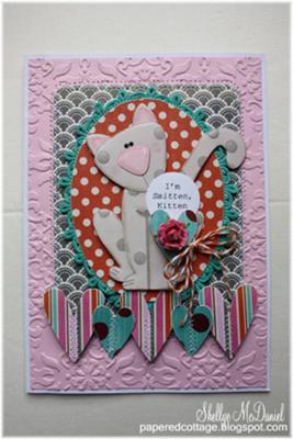 Smitten Kitten<br>Handmade Valentine Card