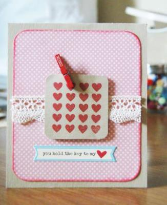 You hold the key to my heart<br>Homemade Valentine Card